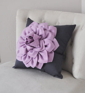 Pillow, Flower Pillow, Decorative Pillow, Purple Pillows, Decorative Throw Pillows, Baby Nursery Decor, Home Decor, Wedding - Daisy Manor