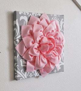 Gray Damask Wall Flower - Daisy Manor