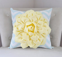 Load image into Gallery viewer, Light Yellow Dahlia Pillow - Daisy Manor