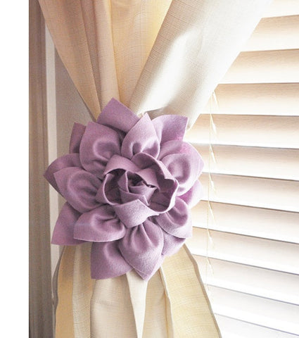Lilac Curtain Tie backs
