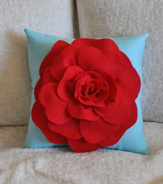 Decorative Pillow Red - Daisy Manor