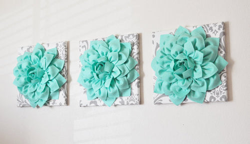 Mint Dahlia Wall Decor - Daisy Manor
