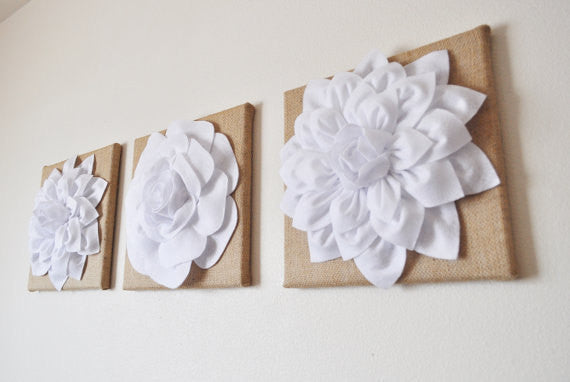 Dahlia and Rose Wall Decor Set - Daisy Manor
