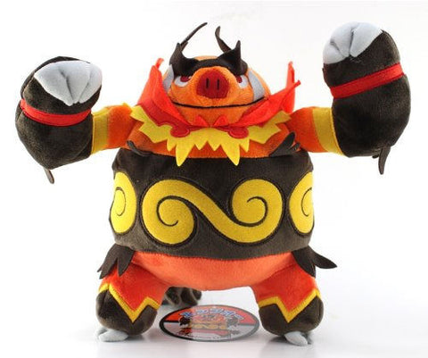 "NEW Pokemon Go Center Japan Pokedoll - 11"" Enbuoh / Emboar Stuffed Plush Doll Pokemon Center Japan 1"