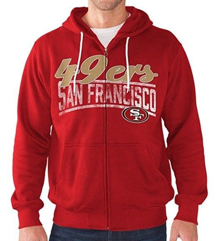 74e72252 San Francisco 49ers Hoodie Men's NFL Swingman Full Zip Sweatshirt Football  NEW G-III