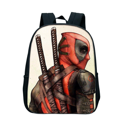 12 Inch Anime Superhero Deadpool Backpack Rucksack Girl Boys School Bag Travel Laptop Bag Kindergarten Bookbag For Children Kids DSL Store 10