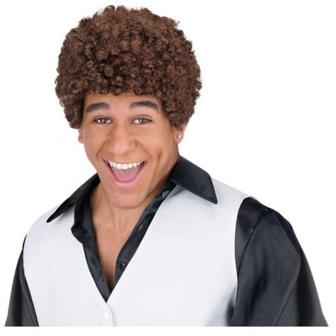 Jheri Curl Wig Adult Mens 1980's Black Afro Halloween Costume Accessory Fun World 1