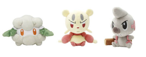 NEW Pokemon Center Japan Stuffed Plush Toy Dolls Cottonee, Mienfoo & Timburr Set Pokemon Center Japan 1