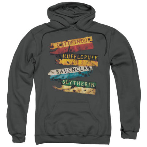 Harry Potter Burnt Banners Licensed Adult Hoodie Harry Potter