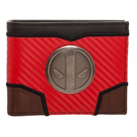 Marvel Deadpool Carbon Fiber Bi-fold Wallet Bioworld 1