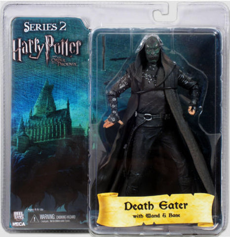"Harry Potter Series 2 DEATH EATER Green Mask 7"" figure base wand Phoenix Neca NECA 1"