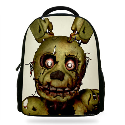 14Inch Cartoon Backpack For Kids Girls Boys Five Nights At Freddy's Bag For School Children Bookbags Cartoon Bags Castle 1