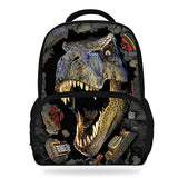 14Inch Hot Sale Kids Schoolbag Cool Animal Print Dinosaur Backpack For Boys Tyrannosaurus Mochila Children Girls Teenagers Bag Horizon Bag Town Store 7