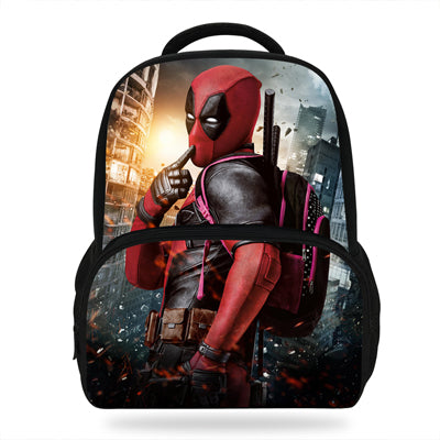 14inch Mochila School Kids Bags Boys Deadpool Backpack Kindergarten Children School Bag Deadpool Avengers Print Good School Bag Store 1