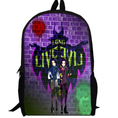 2ecf0455ece ... 15inch TV Show Mal Carlos Evie Jay Backpack double layer custom made  women men Bag children ...