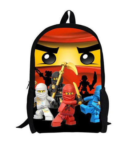 25b180e05ac3 16 Inch Lego Ninja Batman Backpack Boys Girls School Bags Men Women Daily  Backpack Children Bookbag