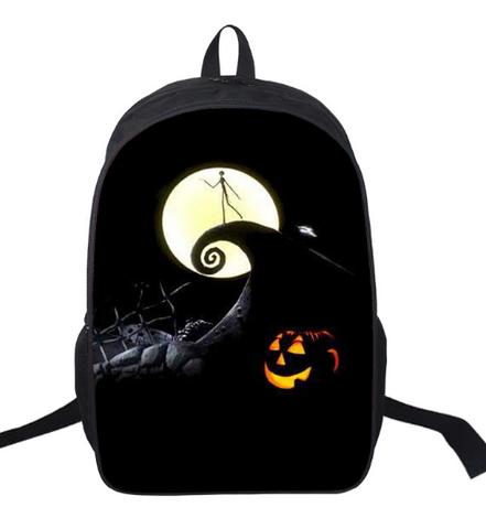 16 inch the nightmare before christmas backpack for teenagers boys girls school bags women men travel - Nightmare Before Christmas Backpack