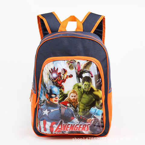 1fd407c222b1 16-inch Printing Avengers School Bags for Teenager Boys Thor Vision  Orthopedic School Bag for. Toddler ...