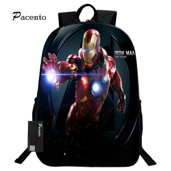 Boys Backpack Bag 16 inch The Avengers Iron Man School Bags for Kinder –  2018 AT 142 30 (Animetee.com Friends) 4bbd7883b0624