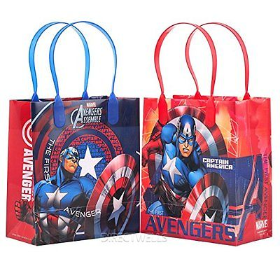 12PCS Marvel Avengers Captain America Goodie Party Favor Gift Birthday Loot Bags Unbranded 1