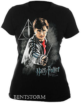 NEW Harry Potter and the Deathly Hallows Wand Tee T Shirt  JUNIORS Ladies XX 2X Warner Bros. Hot Topic