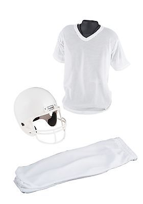 Child Deluxe Football White Uniform Set Franklin Sports