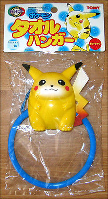 Pokemon Pikachu Bath Door Clothes Towel Hanger Bathroom TOY FIGURE by Tomy JAPAN TOMY 1