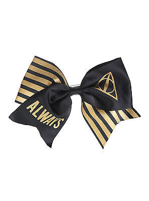 "7"" Harry Potter Deathly Hallows ALWAYS Cosplay Cheer Hair Bow Pin Clip Dress-Up WARNER BROS./HOT TOPIC 1"