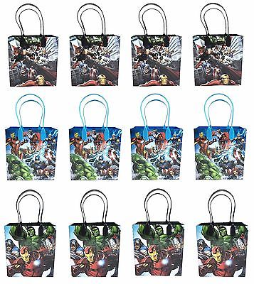 12PCS Marvel Avengers Authentic Goodie Party Favor Gift Birthday Loot Bags NEW MARVEL HEROES 1