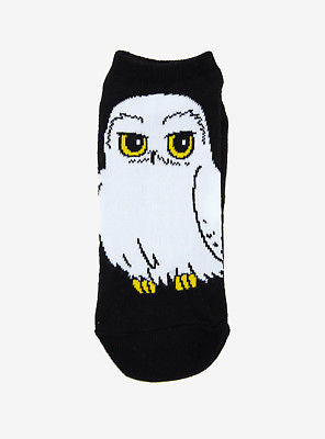 Harry Potter Hedwig Snow Owl No Show Socks ONE Pair 9-11 Magical Creature NWT Warner Bros. 1