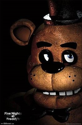 "Five Nights At Freddy's Here's Freddy Poster Picture Art Print 22""x34"" LICENSED Trends 1"