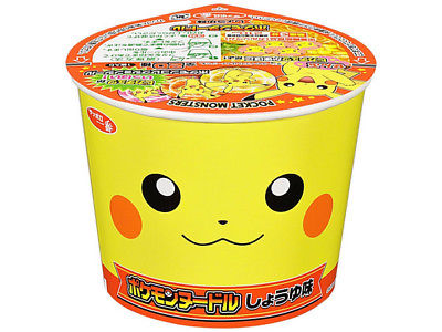 Sanyo Sapporo Ichiban Pokemon Ramen Noodle Cup with Soy Sauce Japanese Snack Tohato 1