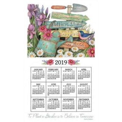 Garden Signs Towel Calendar, Kitchen Towel by Kay Dee Designs