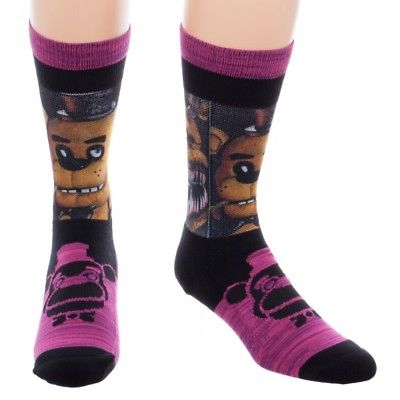 BioWorld - Five Nights at Freddy's Crew Socks, Sublimated Panel Marled (M 10-13) Bioworld 1