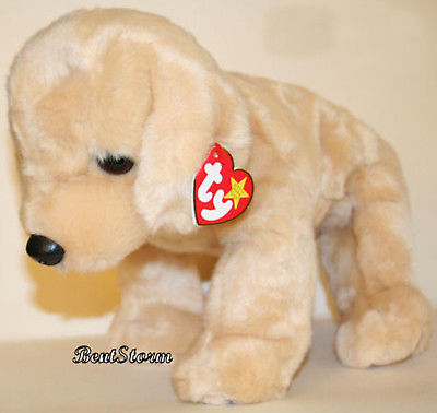 41dfc124678 FETCH GOLDEN RETRIEVER DOG Original 1999 TY Beanie Babies BUDDY Buddies  Plush TY License 1