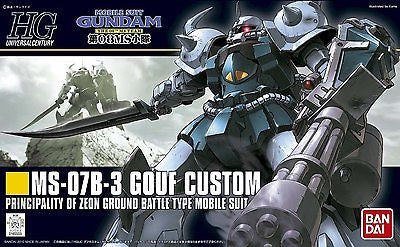 08th MS Team 1/144 HGUC #117 MS-07B-3 Gouf Custom Model Kit Bandai
