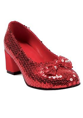 Women's Red Sequined Shoes Ellie Shoes