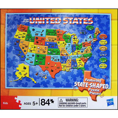 Us Map 84 Piece Puzzle More Puzzles By Cardinal 2018 At 142 30 - Puzzle-us-map
