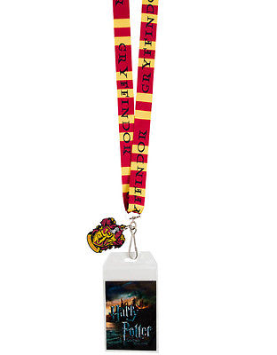 Harry Potter Gryffindor Crest Lanyard Neck Strap Necklace ID Holder Keychain NEW Bioworld 1