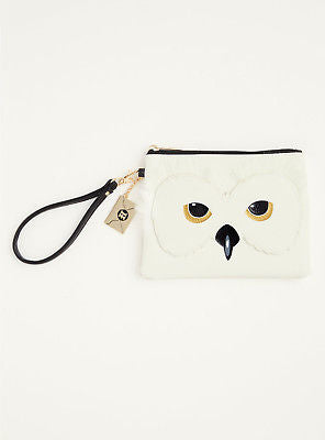 Harry Potter Hedwig Snowy Furry Owl Faux Leather Clutch Wristlet Purse Bag NWT Warner Bros. 1
