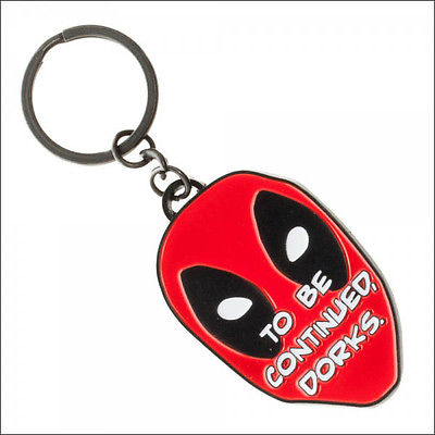 DeadPool Marvel Comics To Be Continued Dorks Metal Face Keychain Bag Zipper Pull Bioworld 1