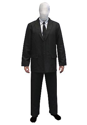 Mens Slenderman costume Morphsuit Morphsuits