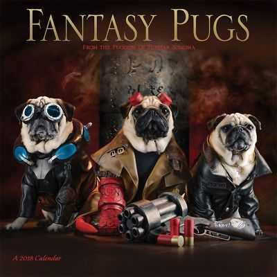 Fantasy Pugs Wall Calendar, Pug by Wyman Publishing Wyman Publishing 1