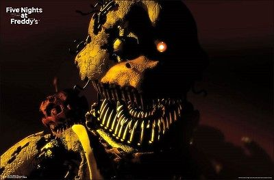 "Five Nights At Freddy's Nightmare Chica Wall Poster Picture Art Print 22""x34"" Trends 1"