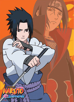 Naruto Shippuden Sasuke and Itachi Anime Wall Scroll New Official Licensed Naruto Shippuden 1