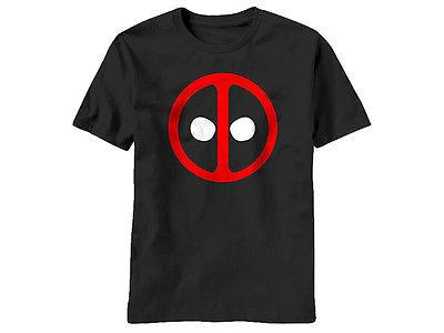 Marvel DEADPOOL CLASSIC ICON SYMBOL Logo - BLACK Adult Licensed T-Shirt - S-2XL Mad Engine