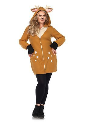 Plus Size Cozy Fawn Costume Leg Avenue