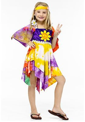 Girls Daisy Hippie Costume Fun World