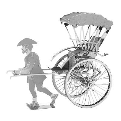 Fascinations Metal Earth 3D Metal Model Kit - Japanese Rickshaw (MMS120) Metal Earth 1
