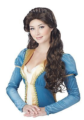 Womens Brunette Medieval Beauty Wig California Costume